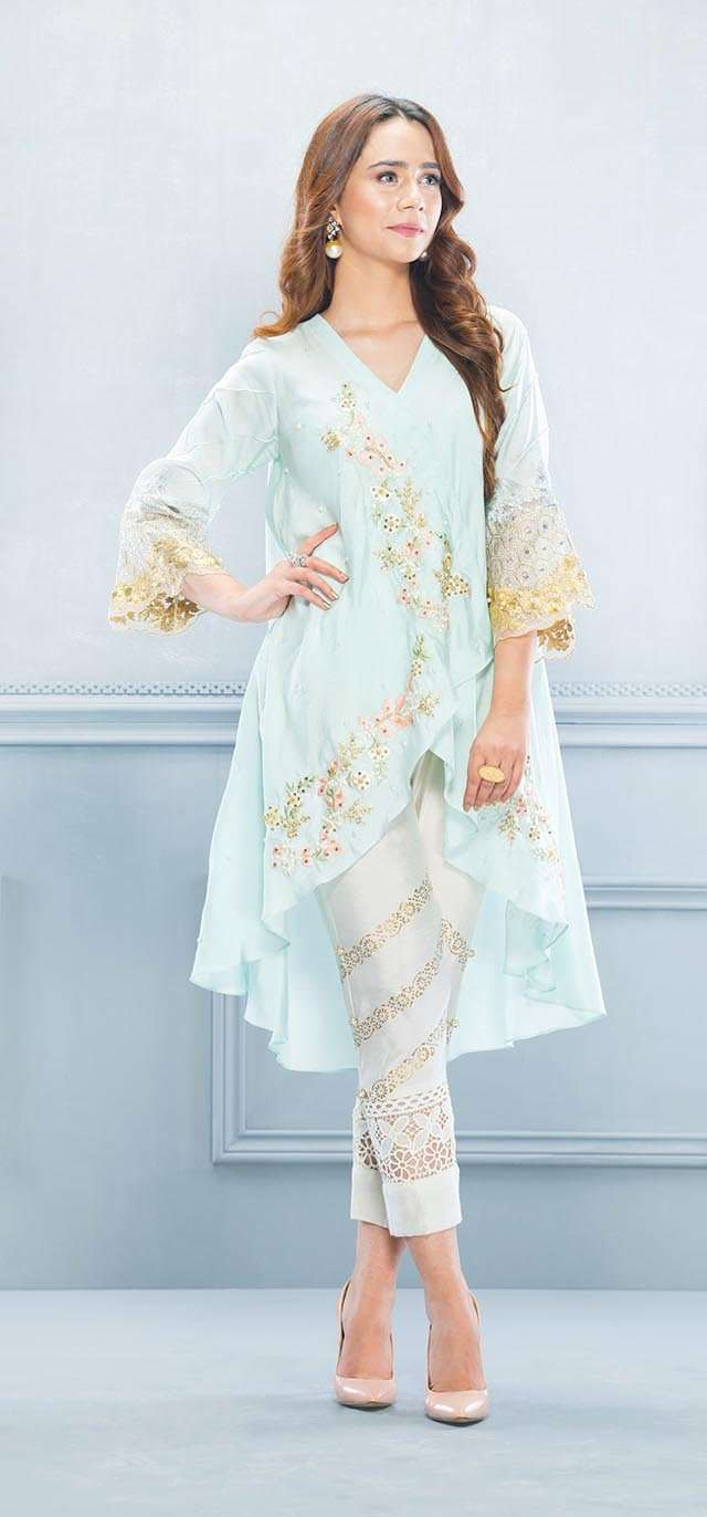Luxury Pret, Pakistani Fashion Designer PARADISE BLUE - Phatyma Khan