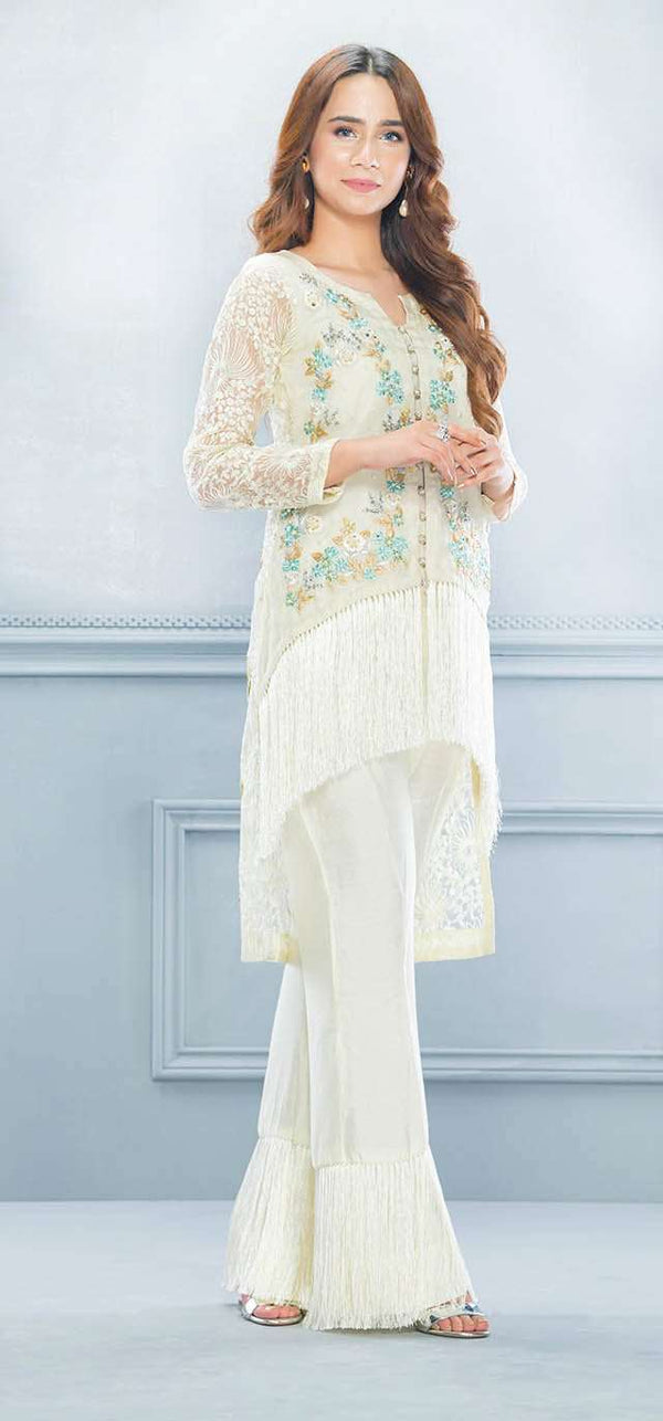 Luxury Pret, Pakistani Fashion Designer LEMON TASSEL - Phatyma Khan