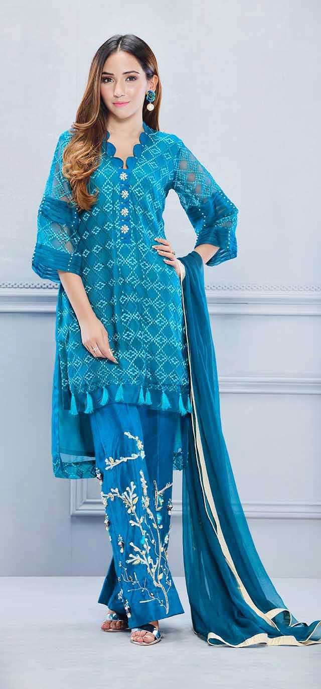 Luxury Pret, Pakistani Fashion Designer PINE GREEN - Phatyma Khan