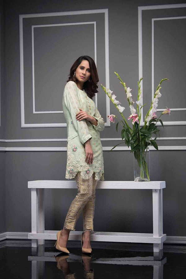 Luxury Pret, Pakistani Fashion Designer MISTY MINT - Phatyma Khan