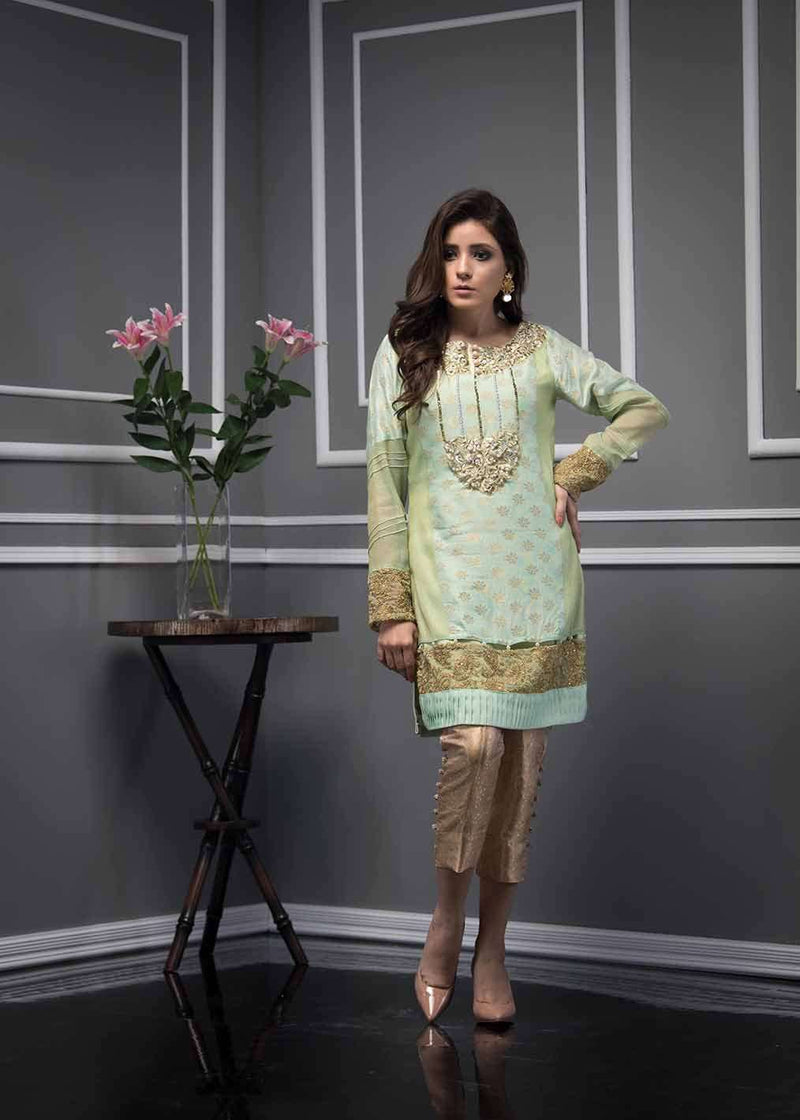 Luxury Pret, Pakistani Fashion Designer ETHNIC PISTACHIO - Phatyma Khan