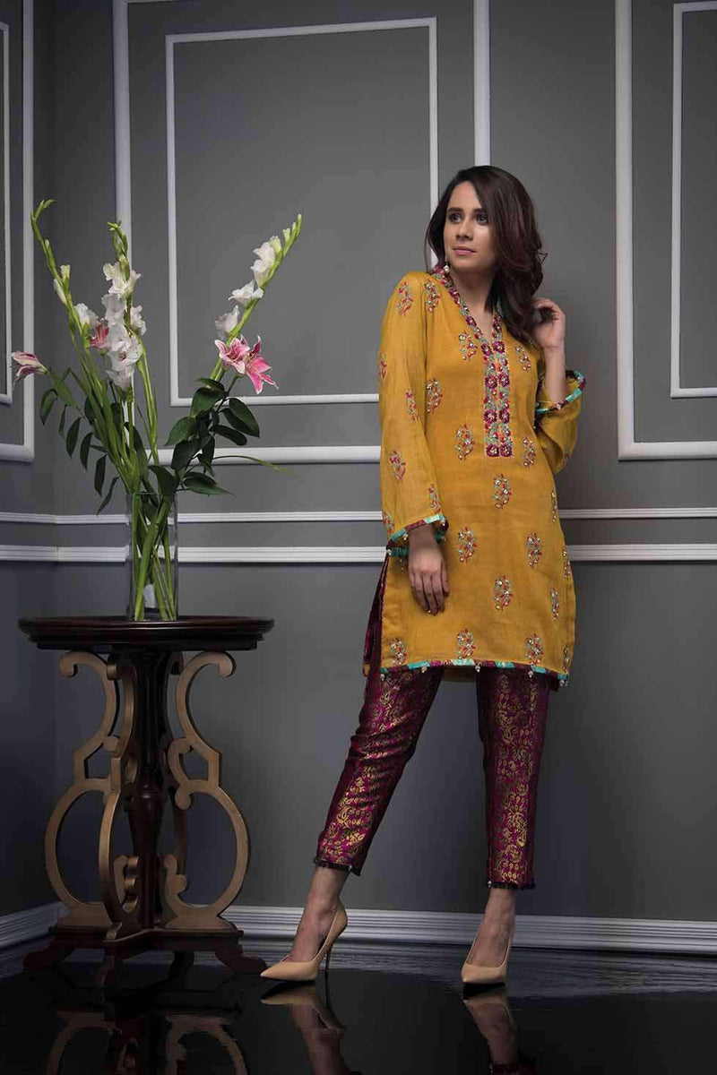 Luxury Pret, Pakistani Fashion Designer MUSTARD ZEST - Phatyma Khan