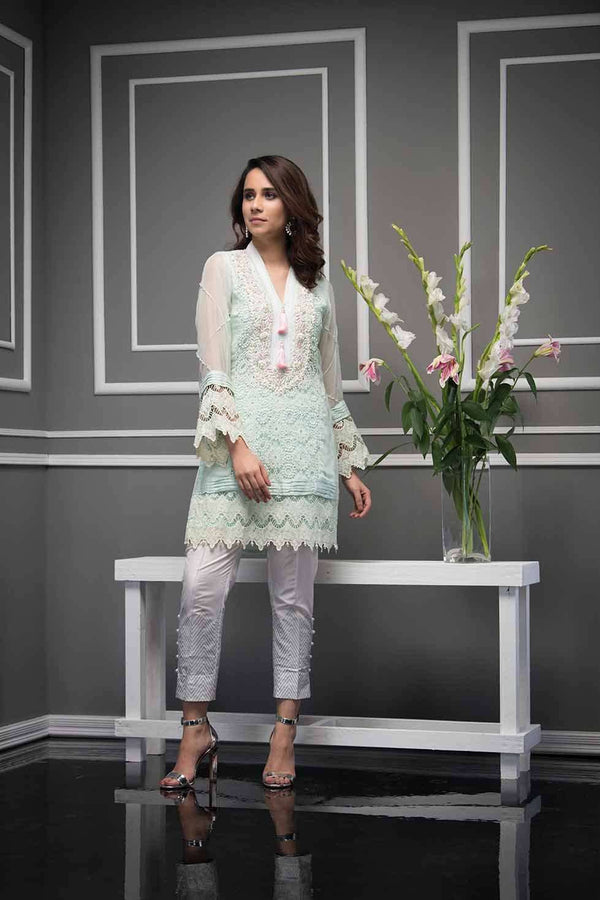 Luxury Pret, Pakistani Fashion Designer LACE SERENITY - Phatyma Khan
