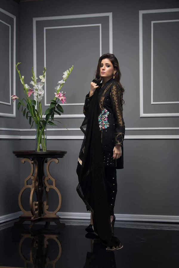 Luxury Pret, Pakistani Fashion Designer BLACK CHARM - Phatyma Khan