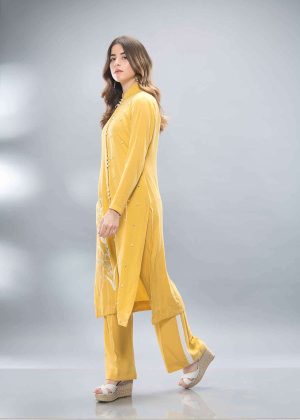 Luxury Pret, Pakistani Fashion Designer SUNSHINE YELLOW - Phatyma Khan