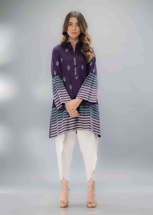 PURPLE BLOCK PRINT - Ready To Deliver-Phatyma Khan-[Luxury_Pret]-[Pakistani_Fashion_Desginer]-[Women_Fashion_Brand]