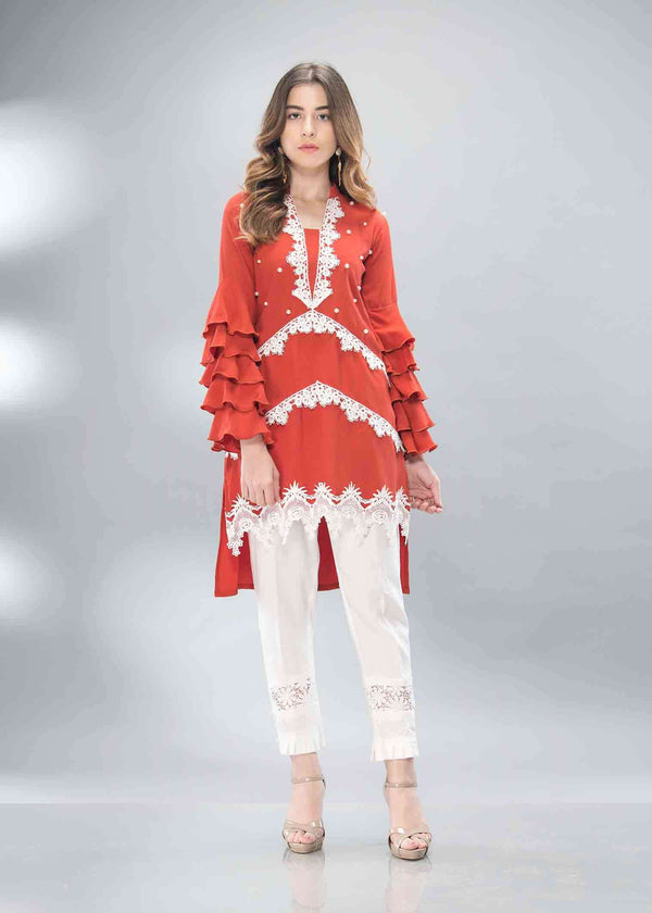 Luxury Pret, Pakistani Fashion Designer RUSTY LACE - Phatyma Khan