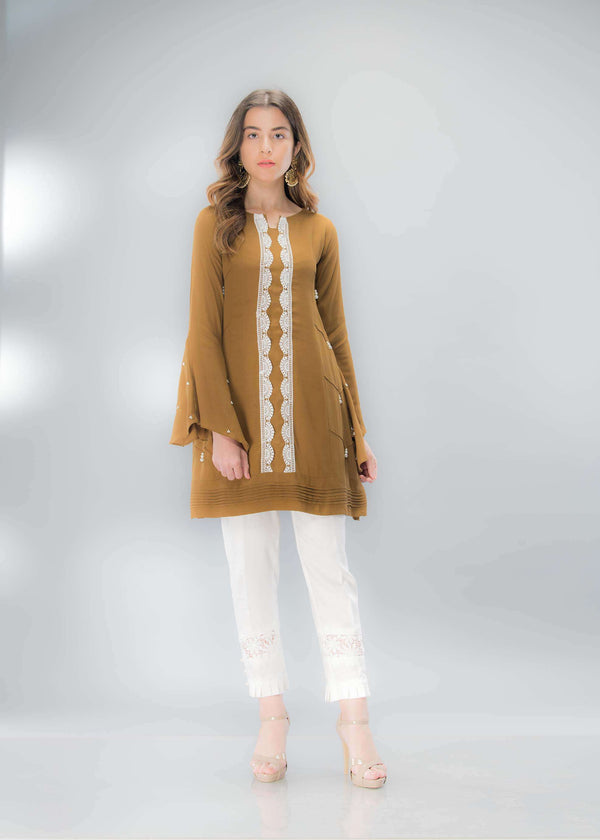 Luxury Pret, Pakistani Fashion Designer CLASSIC GREEN - Phatyma Khan