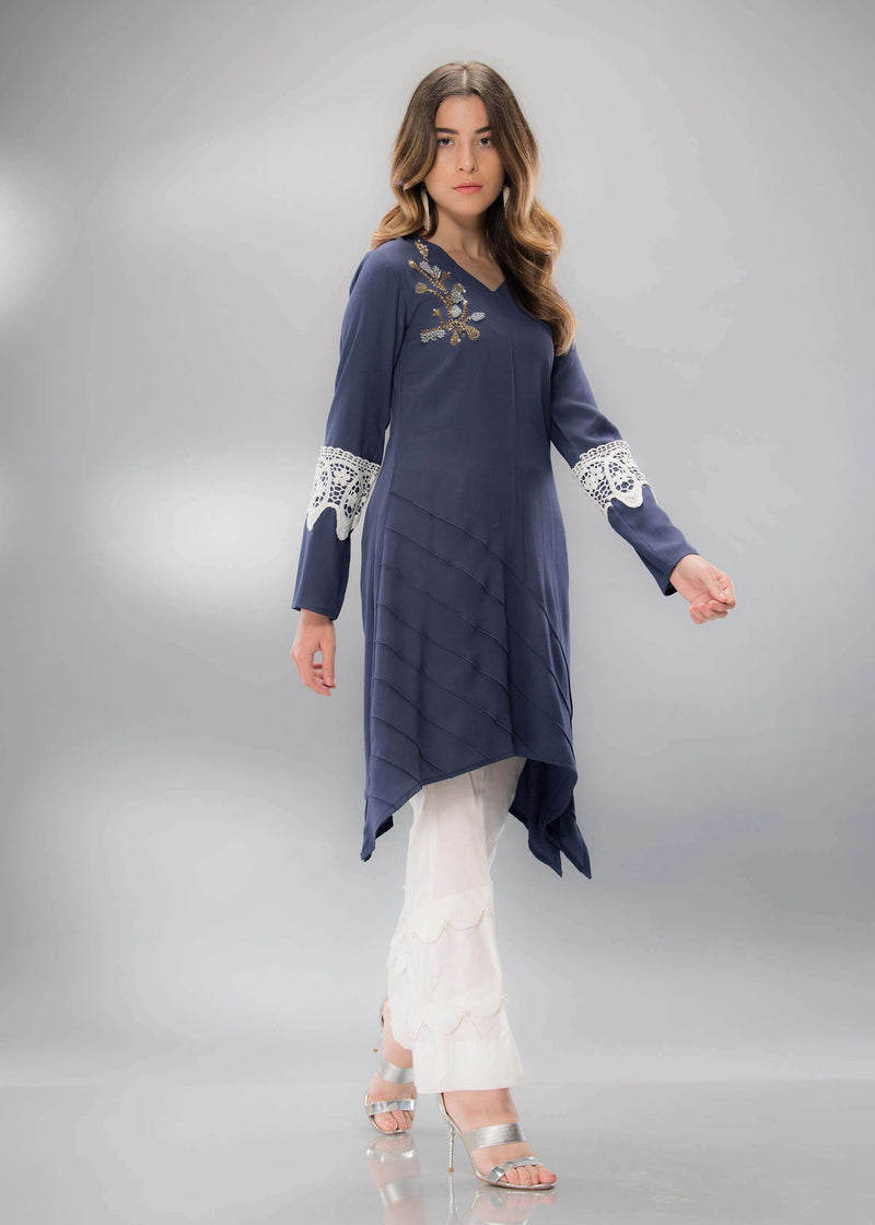 Luxury Pret, Pakistani Fashion Designer BLUE GRACE - Phatyma Khan