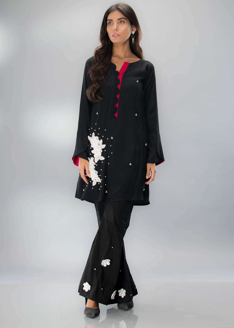 Luxury Pret, Pakistani Fashion Designer BLACK LOVE - Phatyma Khan