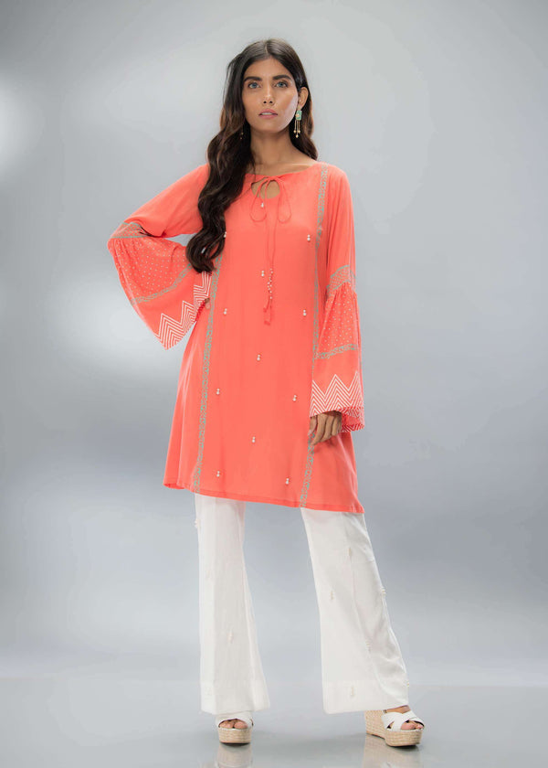 Luxury Pret, Pakistani Fashion Designer CORAL BLOCK - Phatyma Khan
