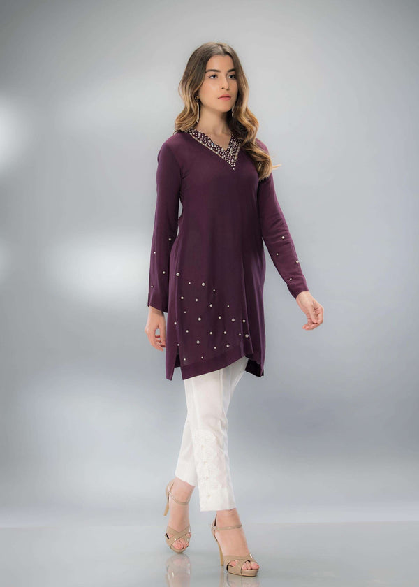 CHIC PLUM - Phatyma Khan  [product_price] [product_description] - Luxury Pret - Women's Designer Clothing #luxurypret