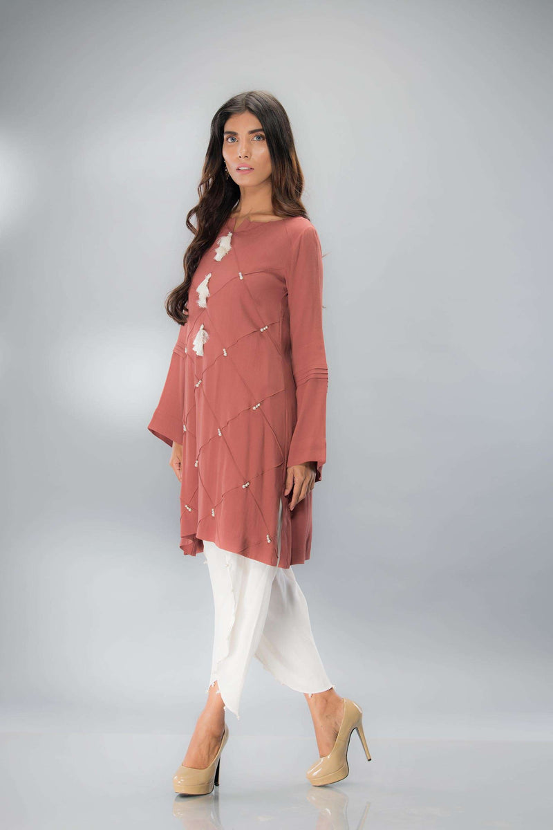 DUSKY BROWN - Phatyma Khan  [product_price] [product_description] - Luxury Pret - Women's Designer Clothing #luxurypret