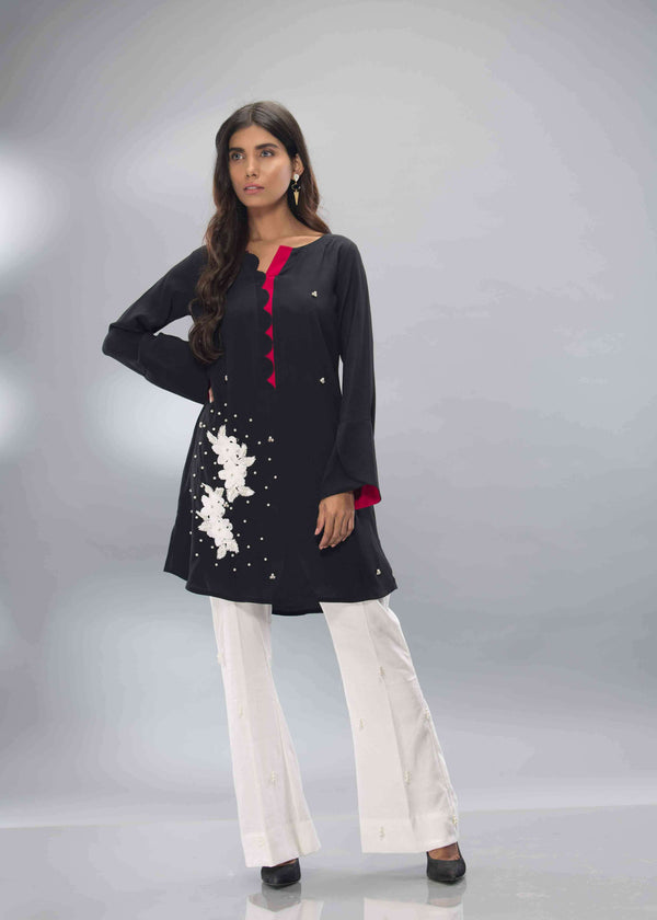 Luxury Pret, Pakistani Fashion Designer BLACK & WHITE - Phatyma Khan