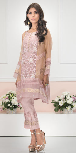 Luxury Pret, Pakistani Fashion Designer PALE PINK - Phatyma Khan