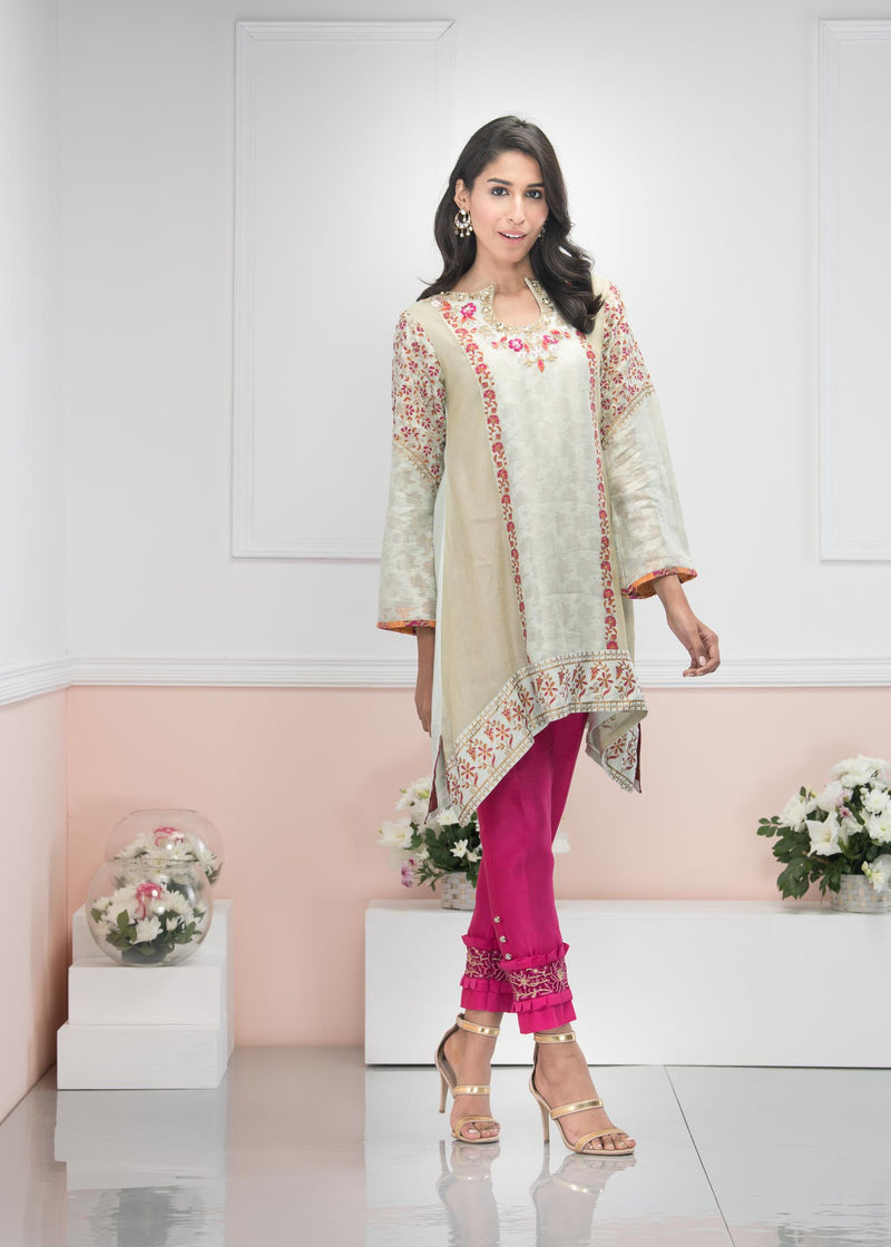 Luxury Pret, Pakistani Fashion Designer ROYAL MINT - Phatyma Khan