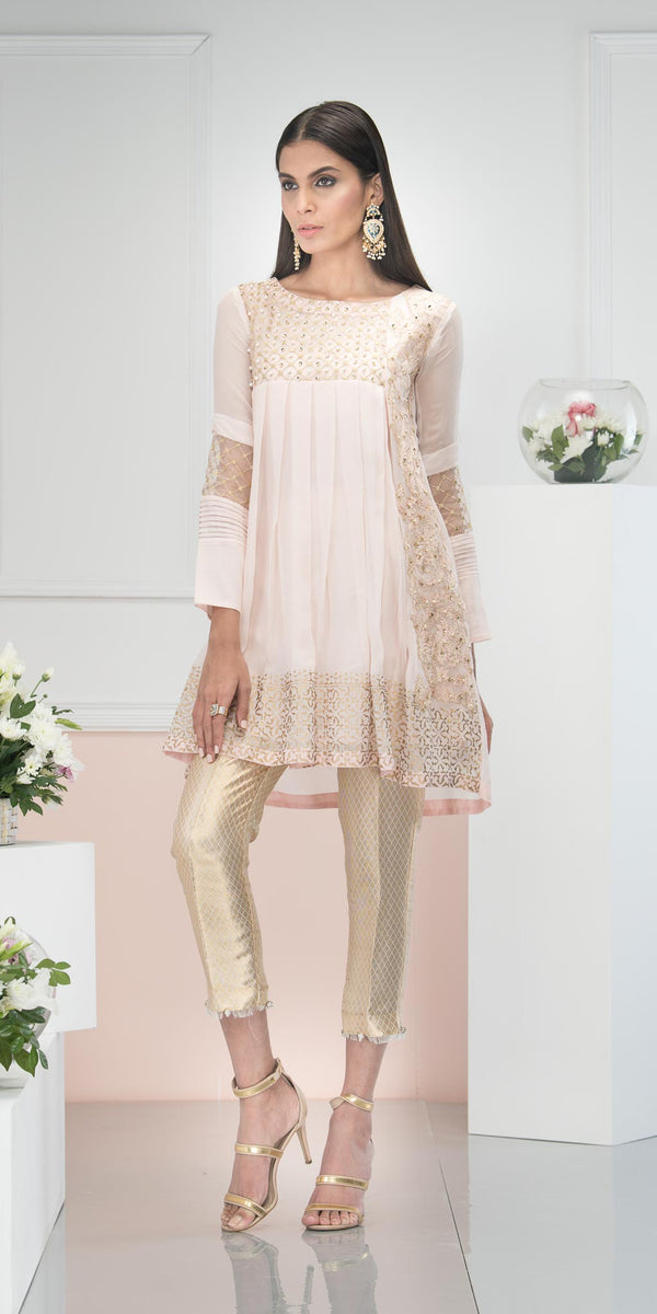 Luxury Pret, Pakistani Fashion Designer PEACH ICE - Phatyma Khan