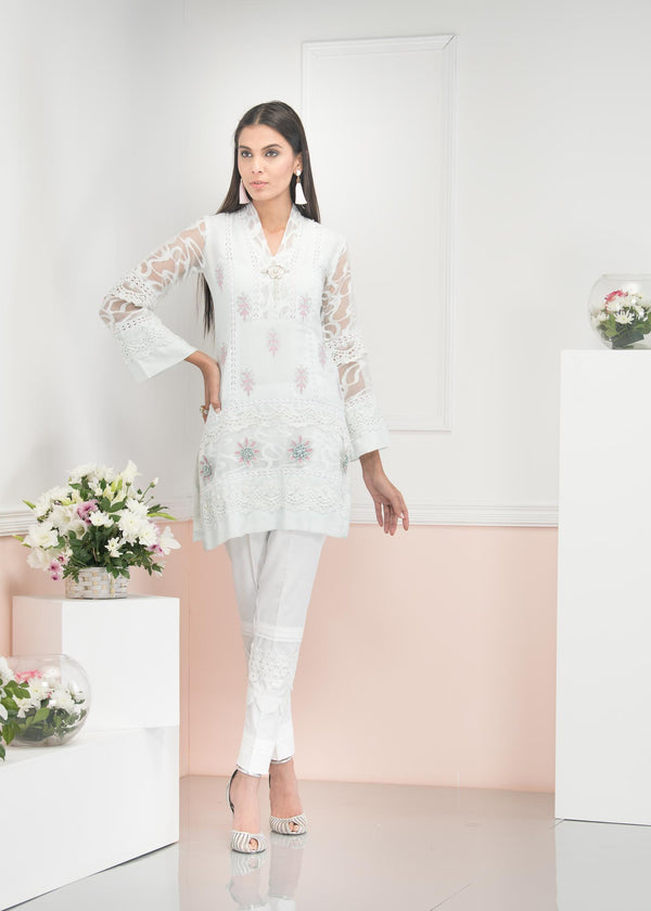 Luxury Pret, Pakistani Fashion Designer BLOOMING PEARL - Phatyma Khan