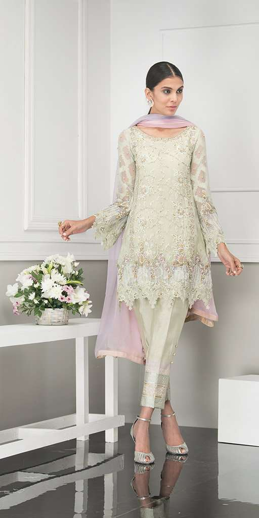 Luxury Pret, Pakistani Fashion Designer ROSE MINT - Phatyma Khan