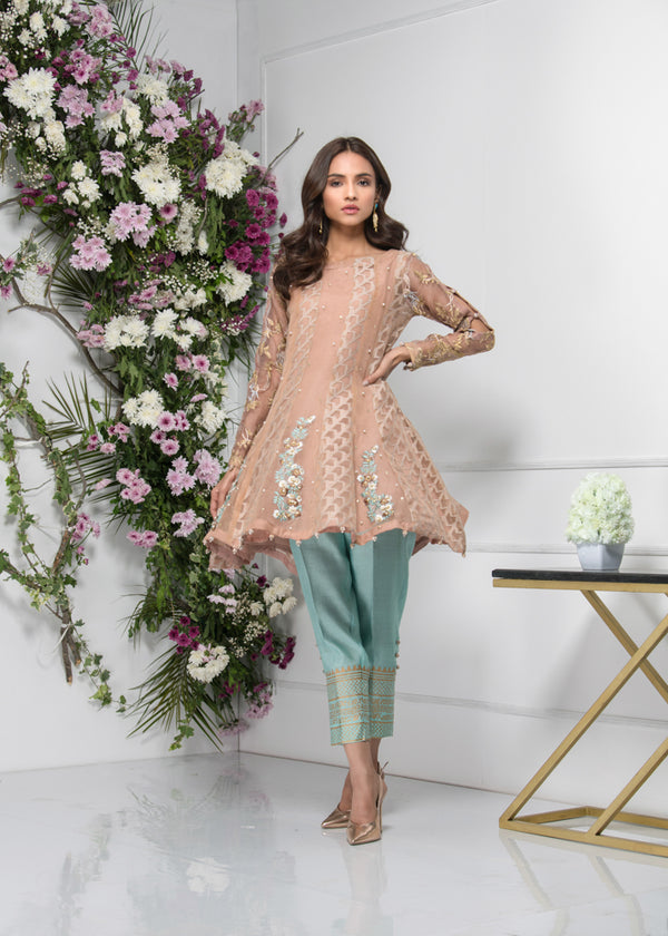 Luxury Pret, Pakistani Fashion Designer IMPERIAL BROWN - Phatyma Khan