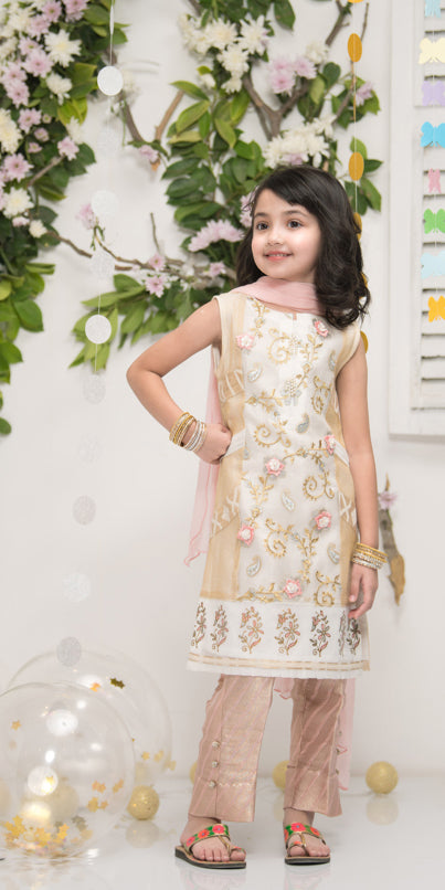 Luxury Pret, Pakistani Fashion Designer MINI DAISY WHITE - Phatyma Khan