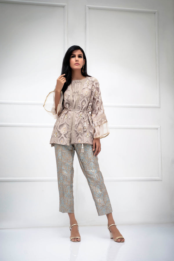 Luxury Pret, Pakistani Fashion Designer CARAMEL GOLD - Phatyma Khan
