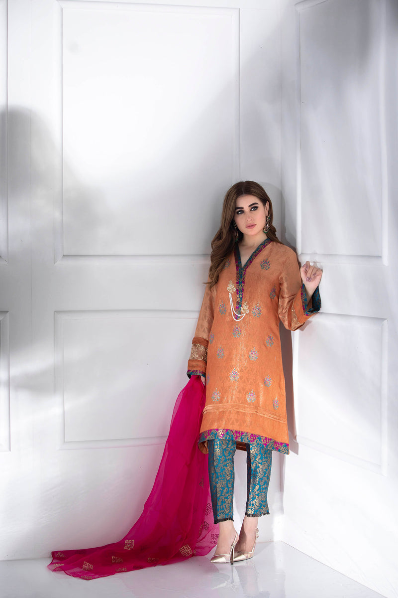 RUST ETHNIC - Ready To Deliver-Phatyma Khan-[Luxury_Pret]-[Pakistani_Fashion_Desginer]-[Women_Fashion_Brand]