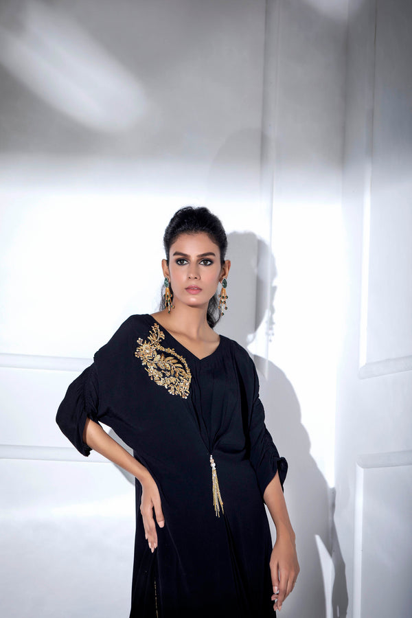 JADE BLACK KAFTAN-Phatyma Khan-[Luxury_Pret]-[Pakistani_Fashion_Desginer]-[Women_Fashion_Brand]