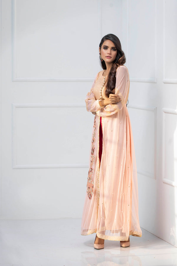 CANDLE PEACH - Ready To Deliver-Phatyma Khan-[Luxury_Pret]-[Pakistani_Fashion_Desginer]-[Women_Fashion_Brand]