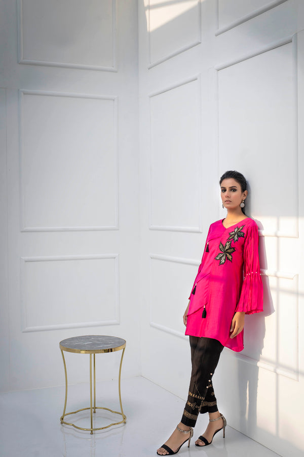 Luxury Pret, Pakistani Fashion Designer FUCSHIA ROSE - Phatyma Khan