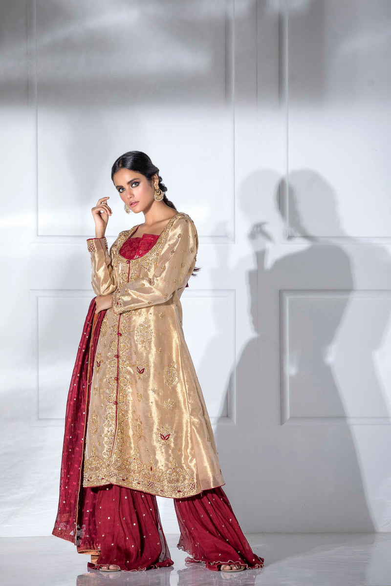 Luxury Pret, Pakistani Fashion Designer ALLURE GOLD - Phatyma Khan