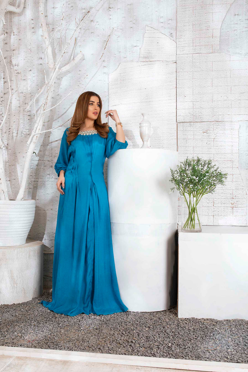 Luxury Pret, Pakistani Fashion Designer STUDDED KAFTAN - Phatyma Khan