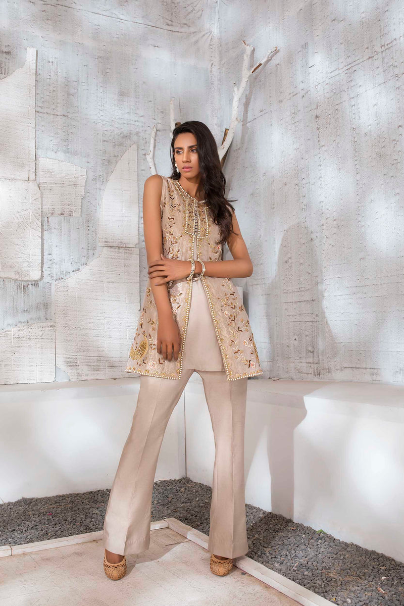 Luxury Pret, Pakistani Fashion Designer BISCUIT GOLD - Phatyma Khan