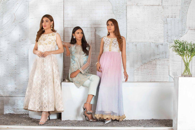 Luxury Pret, Pakistani Fashion Designer VIOLACEOUS PEARL - Phatyma Khan