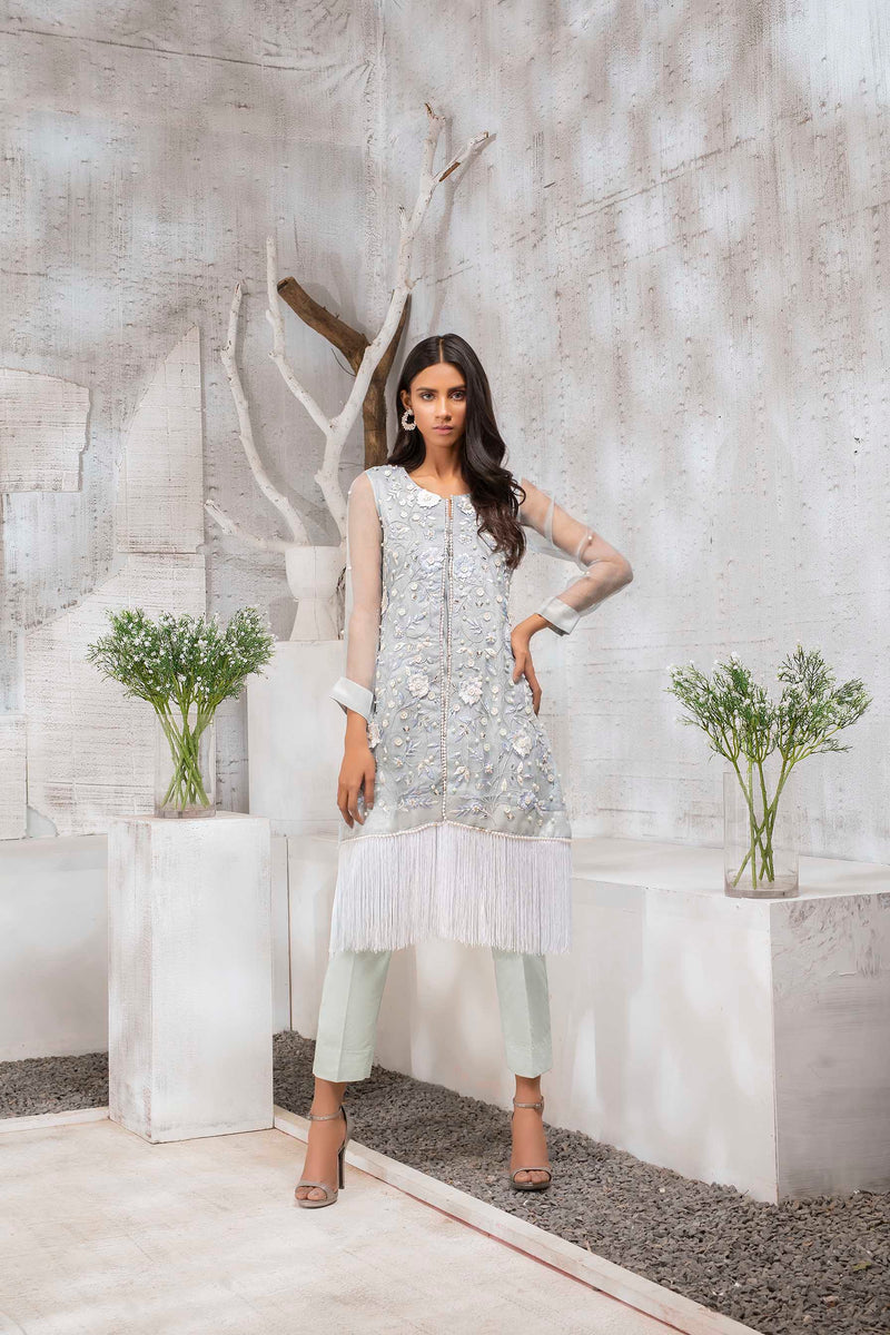 Luxury Pret, Pakistani Fashion Designer LINT BLUE - Phatyma Khan