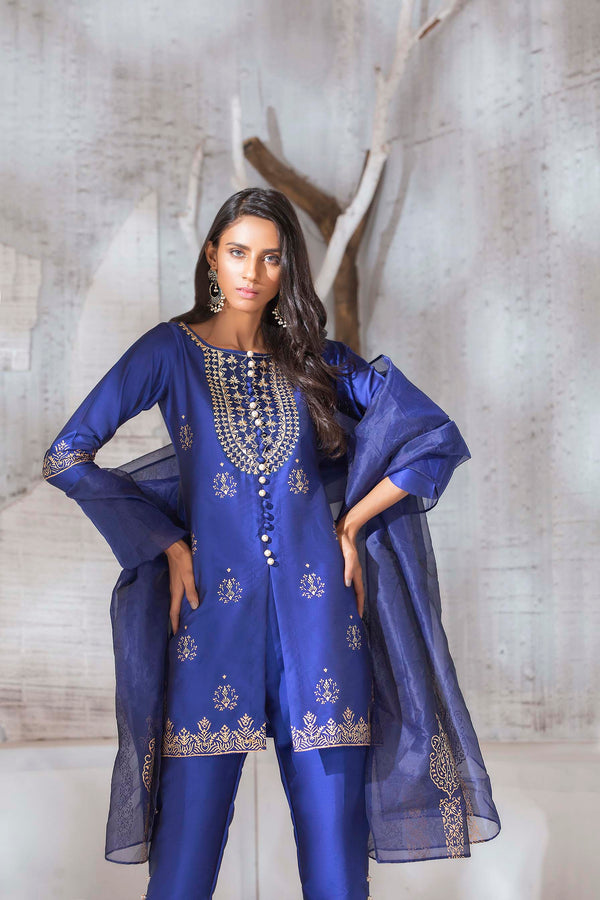 SLEEK BLUE-Phatyma Khan-[Luxury_Pret]-[Pakistani_Fashion_Desginer]-[Women_Fashion_Brand]