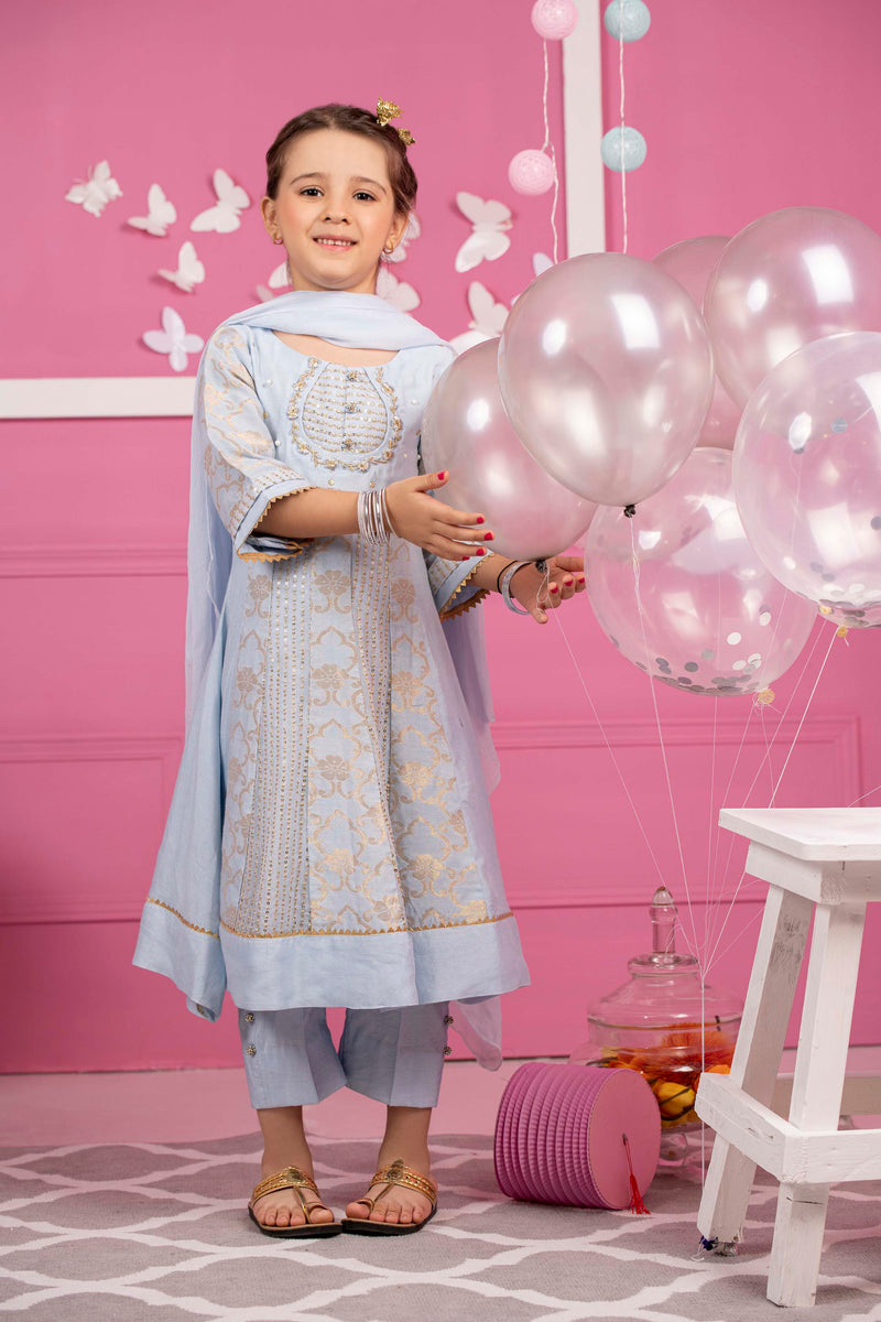 MINI ASH BLUE ANARKALI