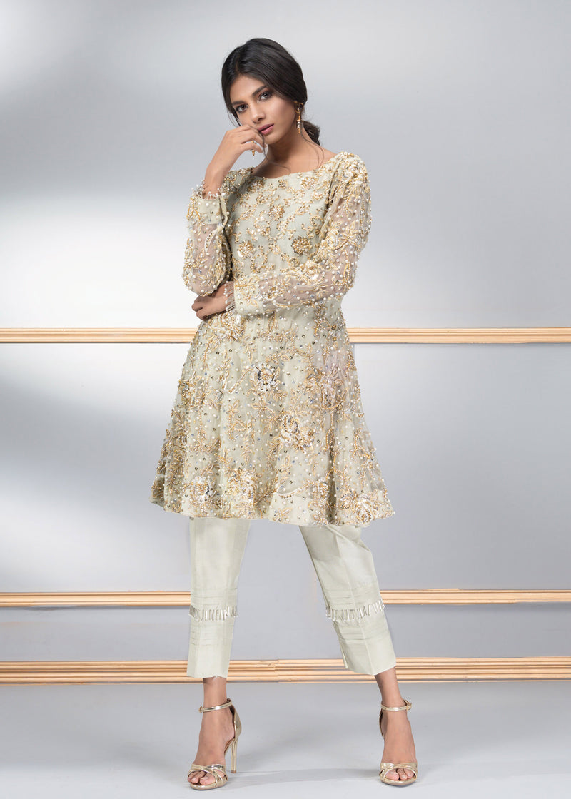 Luxury Pret, Pakistani Fashion Designer JADE MINT - Phatyma Khan
