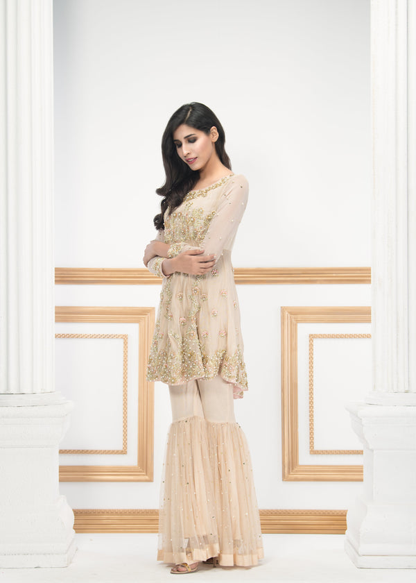 Luxury Pret, Pakistani Fashion Designer CLASSIC IVORY - Phatyma Khan