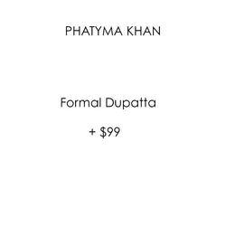 Luxury Pret, Pakistani Fashion Designer Formal Dupatta - Phatyma Khan