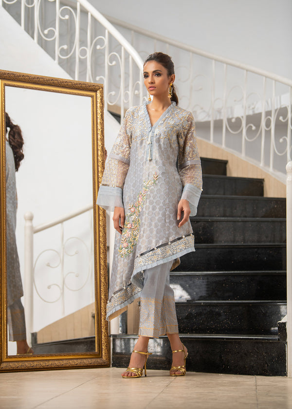 SIDE DROP GREY-Phatyma Khan-[Luxury_Pret]-[Pakistani_Fashion_Desginer]-[Women_Fashion_Brand]