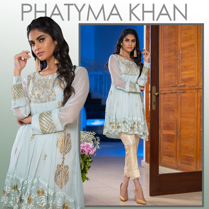 Luxury Pret, Pakistani Fashion Designer ICE MINT - Phatyma Khan