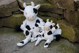 Hugglehounds Plush Corduroy Durable Barnyard Knotties, Cow,