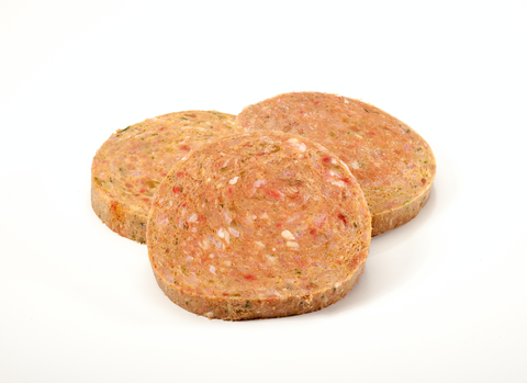 Chicken & Veggies - 4oz Patties 10 lb box  approx (40)