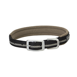 Reflective Lined Dog Collar Black Terrain