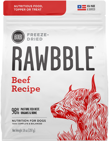 Bixbi Rawbble Freeze Dried Beef Dog Food