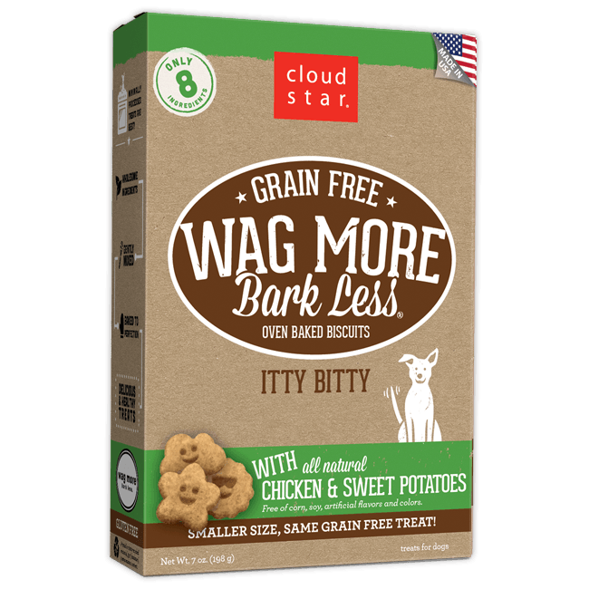 Wag More Bark Less Oven-Baked Grain Free Itty Bitty: Chicken & Sweet Potatoes