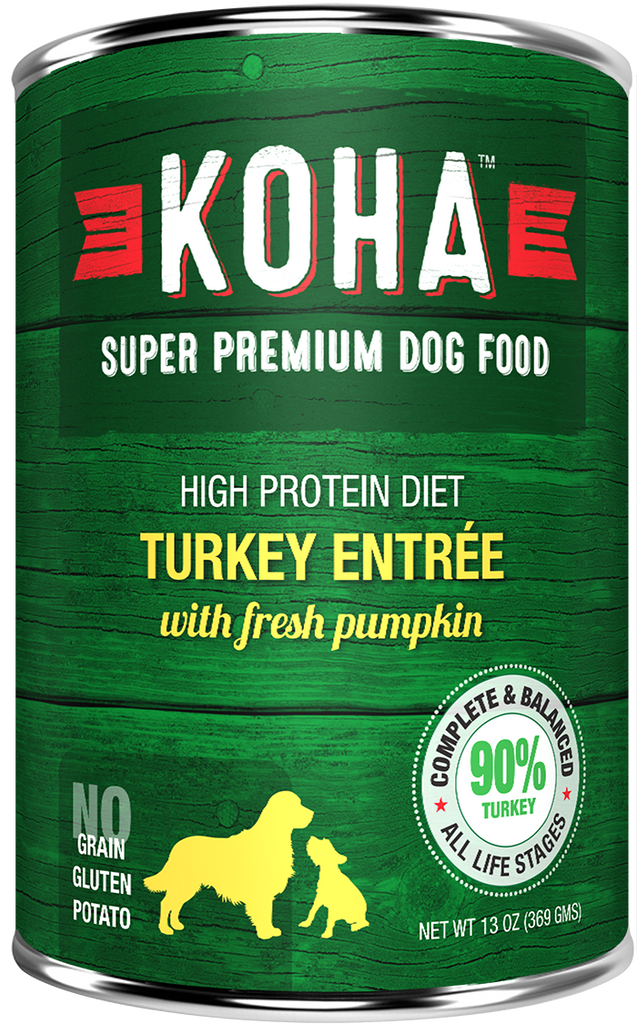 KOHA Grain Free Turkey w/Fresh Pumpkin