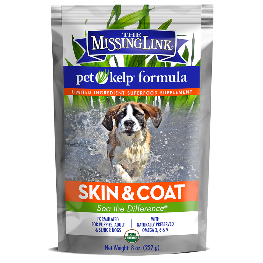 The Missing Link® Pet Kelp® Formula – Skin & Coat – Limited Ingredient Superfood Supplement For Dogs 8 oz