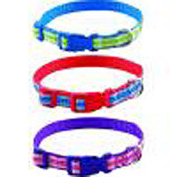 ADJUSTABLE NYLON DOG COLLAR - HIGHLAND PRINT - 14-20""